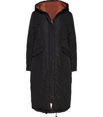 revesible jacket w. big pockets at parka lange jas jas zwart coster copenhagen