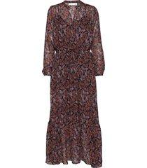 kalistaiw long dress maxi dress galajurk bruin inwear