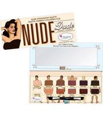 nude dude the balm - paleta de sombras estojo