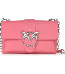 pinko designer handbags, pink love mini soft simply shoulder bag