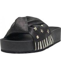 sandalia natalia negro cebra kuss