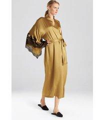 muse robe, women's, brown, 100% silk, size m, josie natori