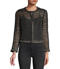 kidman studded leather cropped jacket