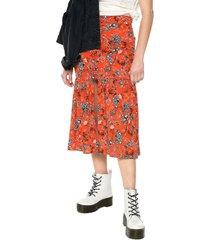 falda naranja-multicolor glamorous