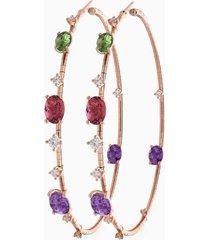 6cm rugiada rainbow hoop earrings