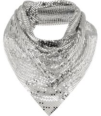 paco rabanne triangle scarf - silver