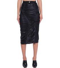 off-white atheleisure gat skirt in black polyamide