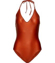 calore baddräkt badkläder orange max mara leisure