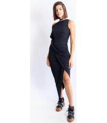 vestido caos glitter fenda feminino