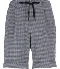 tagliatore creased cotton bermuda shorts