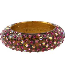 betsey johnson leopard bangle bracelet