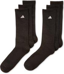 adidas men's cushioned athletic 6-pack crew socks