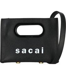 sacai mini shopper bag