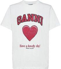 basic cotton jersey t-shirts & tops short-sleeved vit ganni