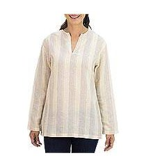cotton tunic, 'cool relax in tan brown' (thailand)