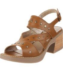 sandalia de cuero suela viamo maili
