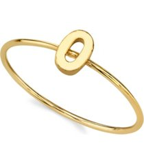 2028 14k gold dipped initial ring