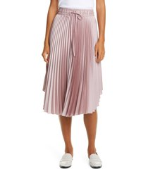 women's club monaco pleated skirt, size x-small - beige