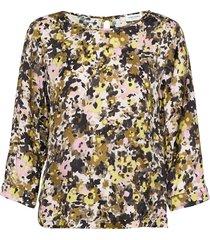 blouse 3/4-sleeve blus långärmad grön gerry weber