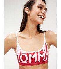 tommy hilfiger women's colorblock swim bikini bralette haute red - xs