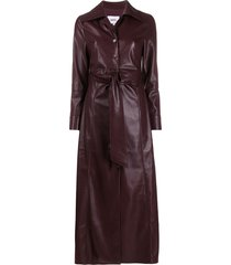 nanushka tarot vegan leather dress - purple
