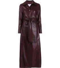 nanushka tarot vegan leather dress - purple