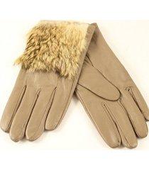 guantes beige almacén de parís