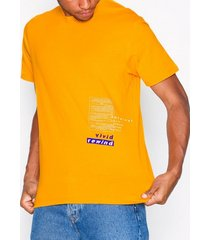 topman orange 'refresh' t-shirt t-shirts & linnen orange