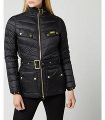 barbour international women's gleann quilted jacket - black - uk 8