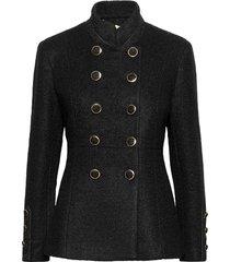 annabellcr short coat ulljacka jacka svart cream