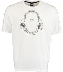 hugo boss t-shirt tima 2 wit regular fit 50450923/100