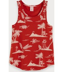 scotch & soda basic printed tank top