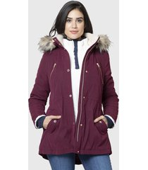 parka nautica burdeo - calce regular