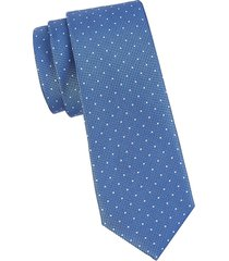 canali men's diamond dot silk tie - blue