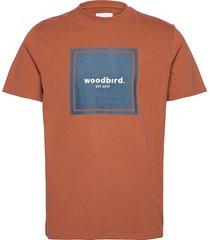 our box jubi tee t-shirts short-sleeved brun woodbird