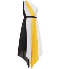 plisse one shoulder dress