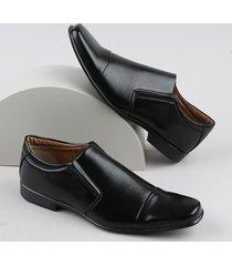 sapato social masculino bico quadrado preto