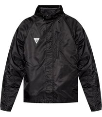 logo-patched rainjacket