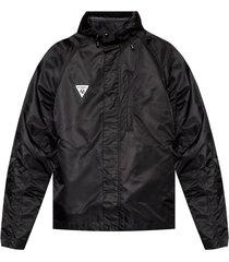 logo-patched rainjacket