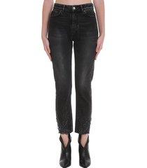 iro serna jeans in black denim
