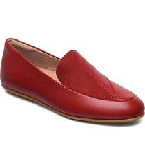 lena lizard-embossed loafers loafers låga skor röd fitflop