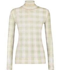 check print turtleneck sweater