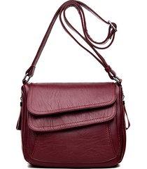 donna solid crossbody borsa spallaccio multistrato casual borsa