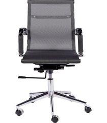 cadeira de escritório tela baixa - cinza