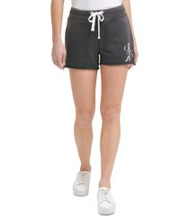 calvin klein jeans distressed logo shorts
