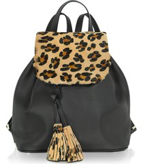 fontanelli designer handbags, calfhair and leather backpack