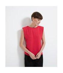 blusa regata em viscose com cava diferenciada | cortelle | vermelho | gg