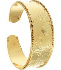 bracciale bangle mondo in bronzo dorato per donna