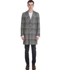 z zegna coat in black and white wool