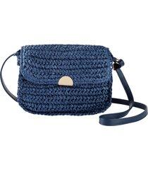 borsa di paglia a tracolla (blu) - bpc bonprix collection